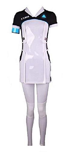 Become Human Kara Cosplay Costume Women T Shirt Dress Pants Uniform Full Set S