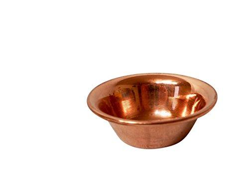 Copper Garden Kupferschale 11,7 x 11,7 x 4,8 cm I Hitzebeständige Kupferschüssel klein zur optimalen Temperaturübertragung I Einsatz als Räucherschale/Servierschale/Sauna Aromaschale UVM.
