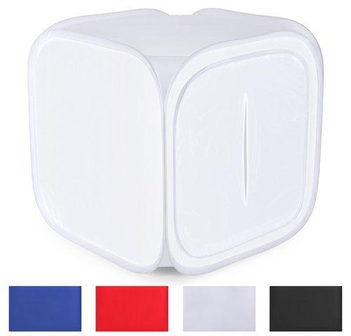 Neewer - Tenda Cubica Fotografica Soft Box per studio fotografico, 4 colori per lo sfondo: rosso, blu scuro, nero, bianco, Borsa inlcuso, 30 x 30 cm