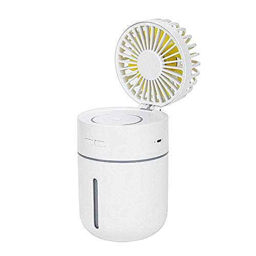 Jjoer Ventilador De Mesa Silencioso Nebulizador VentiladorVentilador Sobremesa Silencioso Ventilador Sin Ruido Nebulizador para Ventilador para Salidas De Picnic White