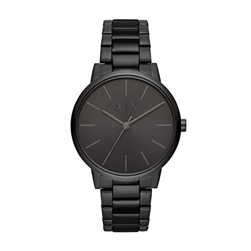 Armani Exchange Herren Analog Quarz Uhr mit Edelstahl Armband AX2701