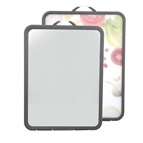 キッチンまな板、生地を切る生地を練るための印刷されたステンレス鋼の両面まな板(果物と野菜)