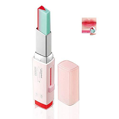 1 STÜCK Make-Up Lippenstift Zwei Töne Langlebige Feuchtigkeitsspendende Gradient Lipstick Lip Blam Wasserdichte Farbton Lip Bar Kosmetik Geschenk Für Frauen Mädchen (3 Pomelo Mint)