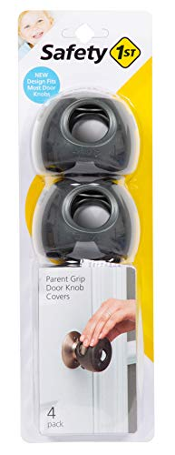 Safety 1st Parent Grip Door Knob Covers, Grey/Charcoal, One Size (Pack of 4)