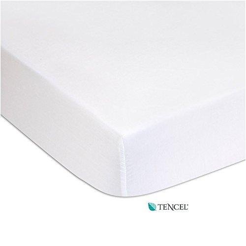 Drap Housse / Alèse 2 en 1 - Tencel PU - 90x140 - Blanc