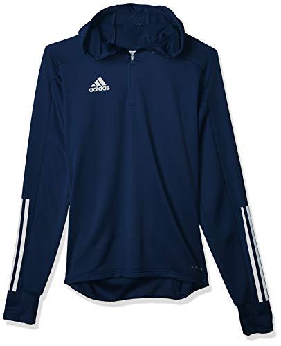 adidas męska bluza z kapturem CON20 TK Hood, granatowy/biały, L, EK2961