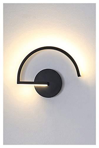 Aplique Pared Luces blancas pared negra de Inicio de la cabecera del metal de acrílico nórdica llevada moderna Dormitorio mínimo de luz de la lámpara apliques de luminarias Iluminación interior