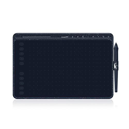 CMDZSW HS611 Gráficos Tableta 8192-Nivel Tablero Digital Dibujo rápido/Multimedia Barra de Teclas Lápiz sin batería con función de inclinación (Color : Cobalt Blue)