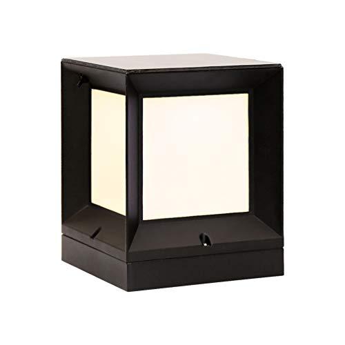 LYXJX Lámpara Solar LED Aplique Exterior Impermeable, Moderno Luces Solares Farola de Impermeable Iluminación de Patio y Terraza Fuente De Luz De 2 Colores con Sensor Crepuscular