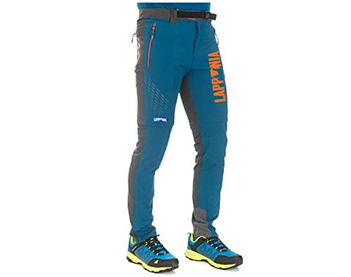 Lapponia Pantalone Bicolore ACCORCIABILE Estivo Leggero Elasticizzato Confortevole Caccia Trekking Montagna Outdoor Sport Tempo Libero (48)