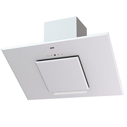 KRONA STEEL LINA 900 WHITE Plasma/Kopffrei-haubeb 90 cm Dunstabzugshaube 18 LED weiß Facettenschliff Glas Touch Control 40 dB