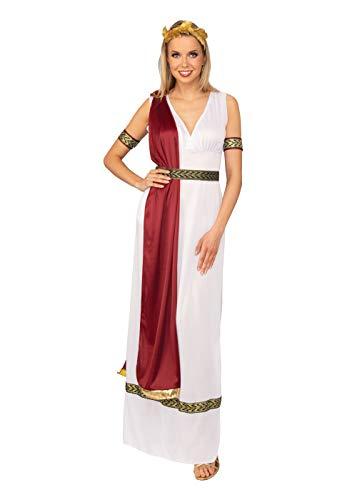 Bristol Novelty AC398 Griechische Göttin Kostüm, weiß, UK Size 10-14