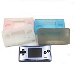 Soft Clear TPU Protective Shell Case Cover Transparent Protective Housing Shell Skin for Gameboy Micro GBM Repair Part (Pink)
