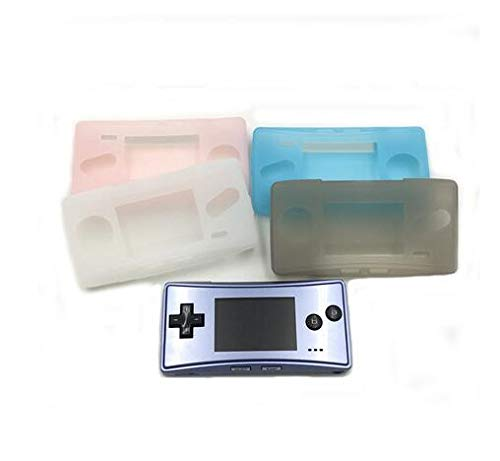 Soft Clear TPU Protective Shell Case Cover Transparent Protective Housing Shell Skin for Gameboy Micro GBM Repair Part (White)