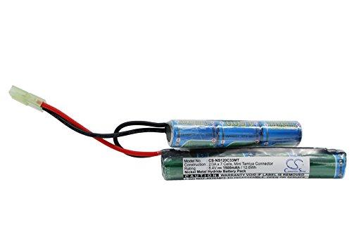 Battery for Airsoft Guns Mini Tamiya Ni-MH 8.4V 1500mAh - 2/3A
