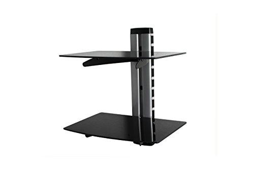 Wandplank voor hemel, freeview, soarsat, gratis tv-ontvangers muur monteerbaar plank voor tv, gameconsole (2 Tier)