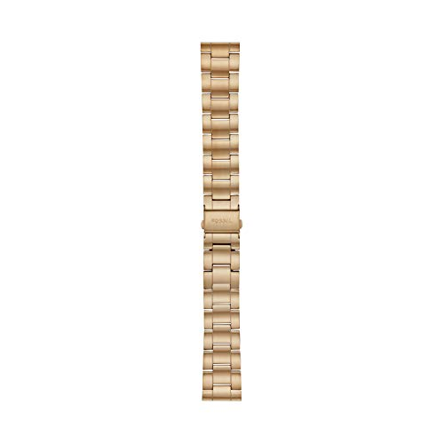 Fossil Unisex 22mm Stainless Steel Interchangeable Watch Band Strap, Color: Gold (Model: S221439)