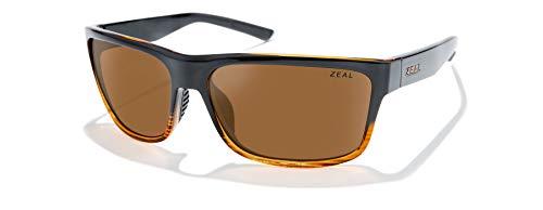 Zeal Optics Rampart - Gafas de sol polarizadas para hombre y mujer, (Lente de cobre pulido con efecto granulado brillante.), Talla única