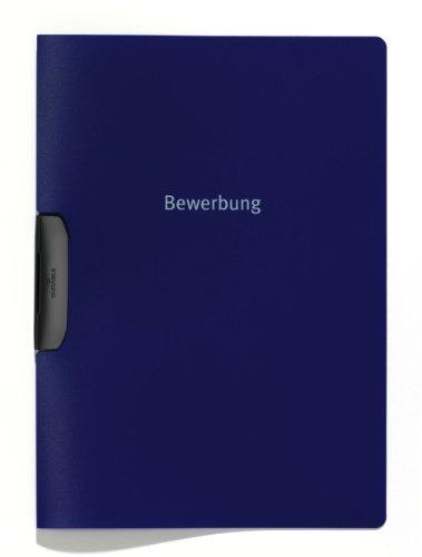 Durable 228907 Bewerbungsmappe Duraswing Job, bis 30 Blatt A4, dunkelblau, 5er Packung