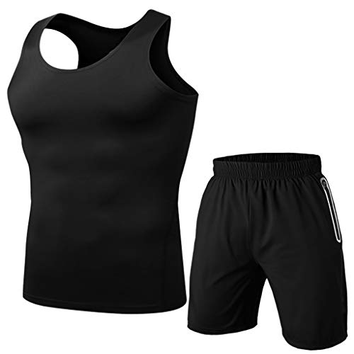 Yowablo - Yoga-Achselshirts für Herren in Schwarz, Größe XXL