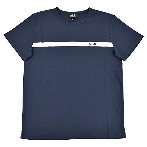 (アー・ペー・セー)A.P.CT-SHIRT YUKATA ライン LOGO クルーネック Tシャツ COCLI-H26853 IAK DARK NAVY「S...
