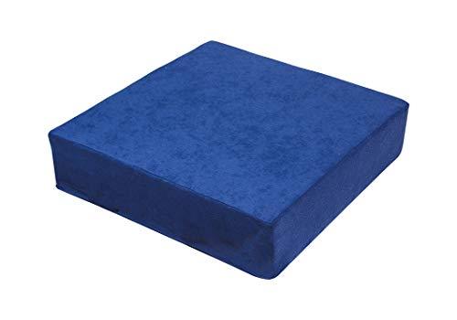 Stuhlerhöhung Sitzerhöhung Sitzkissen Bodenkissen 40 x 40 x 10cm, blau