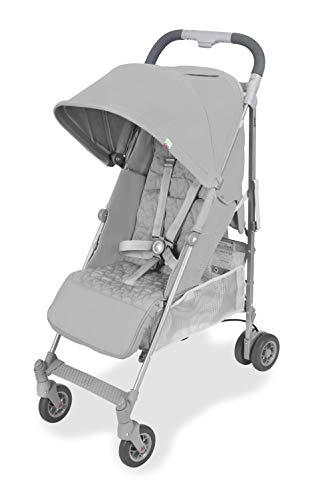 Maclaren Quest Arc Silla de paseo, ligero, manillar unido para recién nacidos hasta los 25 kg, Asiento multiposición, suspensión en las 4 ruedas, Plata 🔥