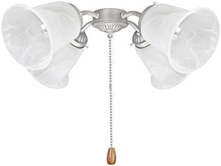 Aspen Creative 22003 11 Ceiling Fan Fitter Light Kit Brushed Nickel product image