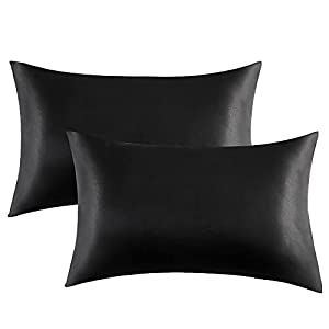 Bedsure Satin Pillowcases Set of 2