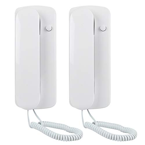 VBESTLIFE Intercom-Telefon, Kabel-Gegensprechanlage mit Gegensprechanlage (AC/DC) Nicht-visuelles Audio-Interfonsystem für Villa Home Office