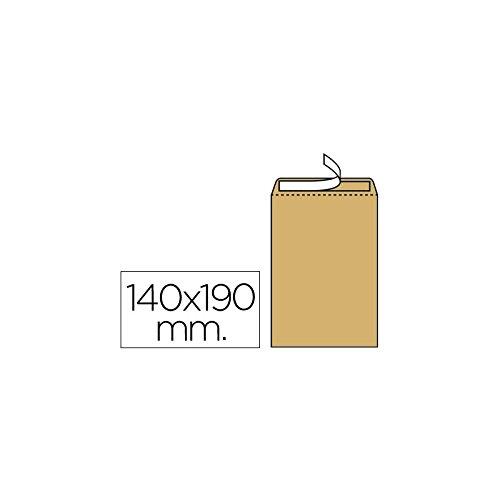 Liderpapel - Sobre Bolsa N.4 Kraft Salarios 140X190 Mm Tira De Silicona Caja De 500 Unidades