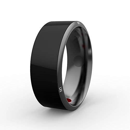 LLCX Smart Ring Kristall Armband Handy-Zubehör NFC Türschloss Ring Schwarz Titan wasserdichte App ermöglicht Smart Ring Home Ring,11th
