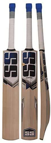 SS Kashmir Willow Cricketschläger aus Weidenleder, exklusiver Cricketschläger für Erwachsene, volle Größe mit vollständiger Schutzabdeckung (Schlag)