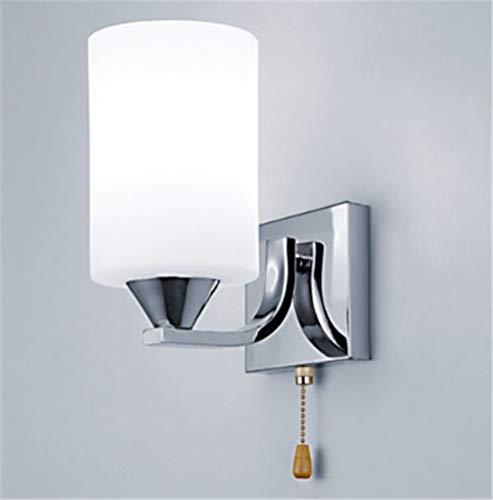 Tivivose Cristal Moderno llevó la luz de lámpara de Pared de la lámpara de iluminación del Acero Inoxidable de la Pared de Cristal Aplique Cilindro de Vidrio Fixture Dormitorio decoración de Interior