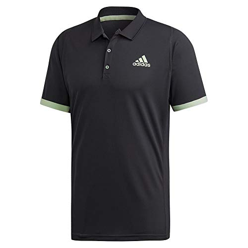 adidas NY - Polo para Hombre, Polo NY Tenis, Hombre, Color Carbono/Verde Brillo, tamaño Extra-Small