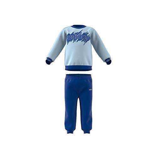 adidas I Lin Jogg Ft Tuta, Unisex bimbi, Sky Tint/Team Royal Blue, 1824