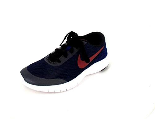 Nike Boy's Flex Experience RN 7 (GS) Running Shoes (4.5 M US Big Kid, Black/Red Crush-deep Royal Blue-White)