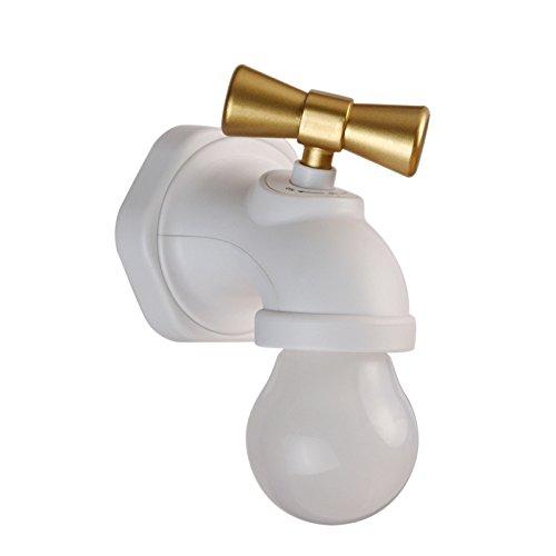 Modern messing warm koud wastafel kraan badkamer wastafel kraan geluid controle nachtkastje lamp_USB antieke huis kraan nacht licht creatieve led intelligente stem controle groothandel wit geel licht 1,5
