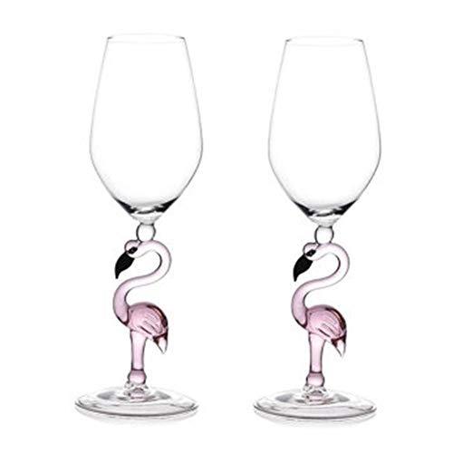 N/D Rotweinglas, Flamingo-Weinglas Bruchsicher Das Robuste Weinglas Kann In Der SpüLmaschine Wiederverwendet Und Gereinigt Werden. Der Flamingo Steht FüR Treue Liebe Und Eignet Sich Als Geschenk.
