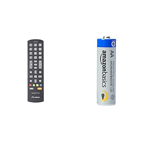 Meliconi Control TV.1 Telecomando universale, Ideale per TV standard e per SmartTV & Amazon Basics Batterie industriali alcaline AA, confezione da 40