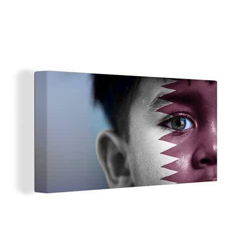 Leinwandbild - Flagge von Katar - 160x80 cm