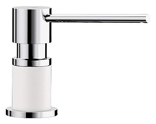 Price comparison product image BLANCO 525814 LATO Soap Dispenser,  Silgranite White / Chrome