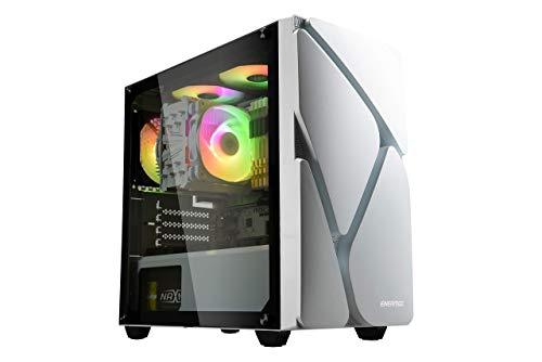 ENERMAX Marble Shell M MS20 マーブルシェル ARGB 搭載 マザーボード同期 MICRO ATX ミニタワー PCケース アドレッサブル RGB LED ファン ARGB ハブ 強化ガラス ホワイト 白【 ECA-MS20-WW-ARGB 】 (ホワイト)
