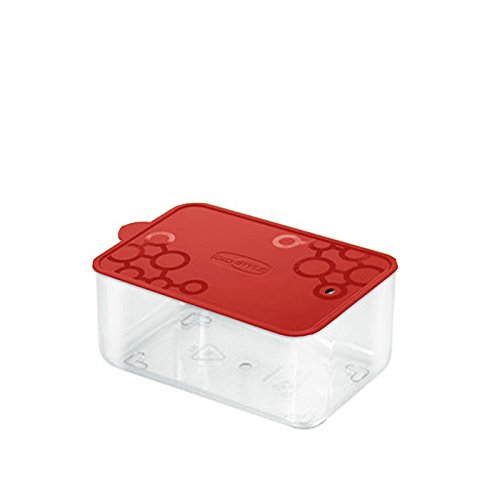 Rechteckiger PVC-Behälter Con. Tengo S Giò Style rote Vorratsdose aus PVC für Nudeln, Lebensmittel und Kekse