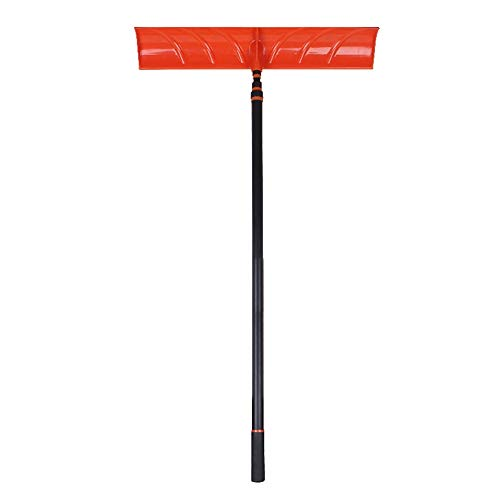 Best Bargain TAESOUW Multifunctional Snow Shovel Steel Snow Shovel with Hardwood Handle Snow Shovel ...