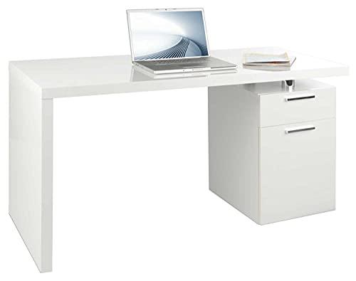 Schreibtisch Computertisch Arbeitstisch | Hochglanz Weiß