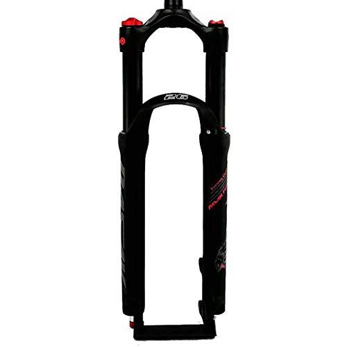 """TYXTYX Horquilla neumática de suspensión para Bicicleta 26 27,5 29 Pulgadas Tubo Recto 1-1/8\""""Ajuste de amortiguación QR 9 mm Recorrido 100 mm 1790g Horquillas de Bicicleta MTB"""
