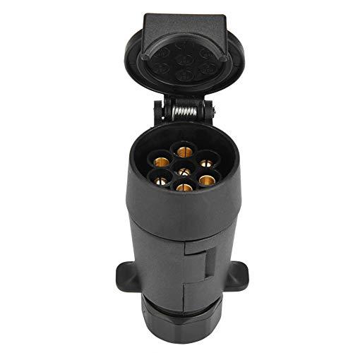 EBTOOLS 12V 7 Pin Trailer Socket Plug Adapter, 7-polige Kabelstecker Steckverbinder Adapter für Caravan-Anhängevorrichtung