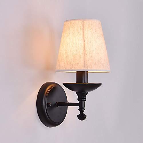 Liunce Lámpara de pared para interiores 1 - Luminaria con pantalla de...