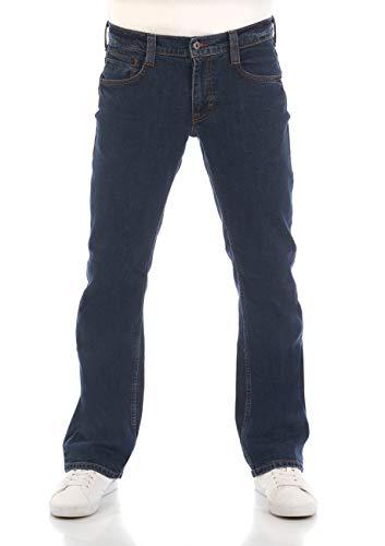 MUSTANG Herren Jeans Hose Oregon Bootcut Männer Jeanshose Denim Stretch Baumwolle Blau Schwarz W30 W31 W32 W33 W34 W36 W38 W40, Größe:W 33 L 34, Farbe:Denim Blue (1006280-980)